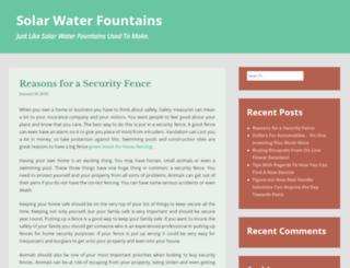 solarwaterfountains.org screenshot