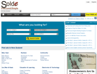 solde.co.nz screenshot