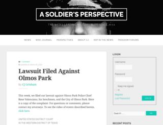 soldiersperspective.us screenshot