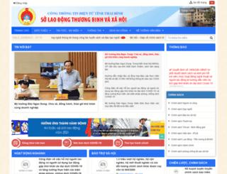 soldtbxh.thaibinh.gov.vn screenshot