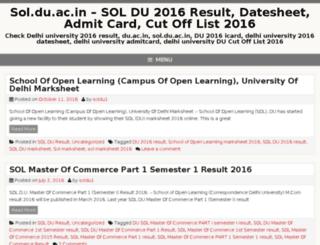 soldu-ac.in screenshot