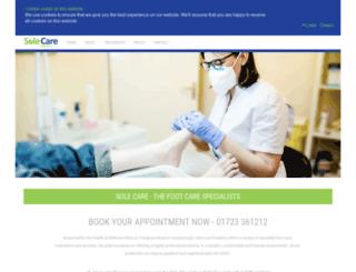 solecare.co.uk screenshot