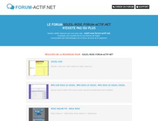 soleil-rose.forum-actif.net screenshot