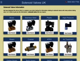 solenoidvalvesuk.com screenshot
