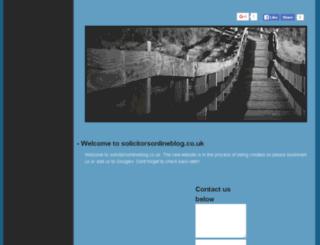 solicitorsonlineblog.co.uk screenshot