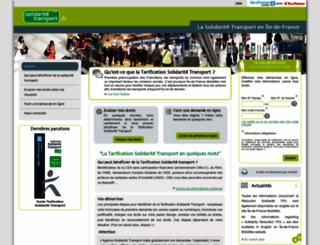 solidaritetransport.fr screenshot