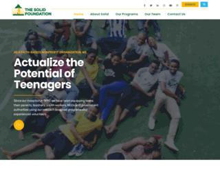 solidfoundationngo.org screenshot