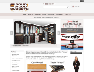 solidwoodclosets.com screenshot