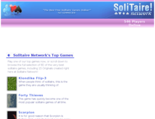 solitairenetwork.com screenshot