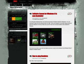 solitairesavant.wordpress.com screenshot