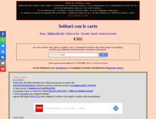 solitariconlecarte.it screenshot