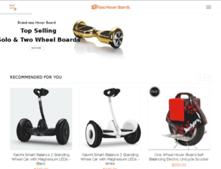 solohoverboards.com screenshot