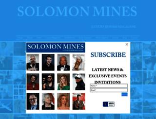 solomonmines.com screenshot