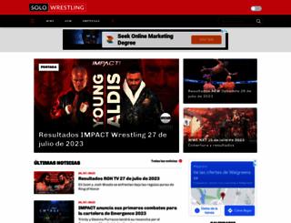 solowrestling.com screenshot