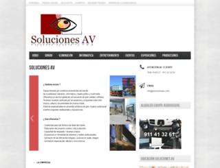 solucionesav.com screenshot