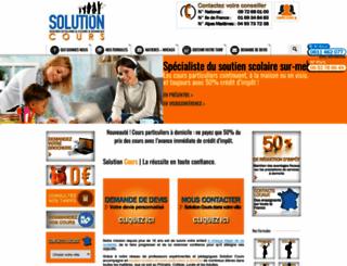 solution-cours.fr screenshot