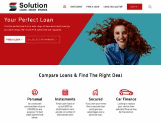 solution-loans.co.uk screenshot
