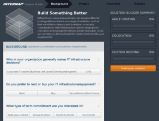 solutionbuilder.internap.com screenshot
