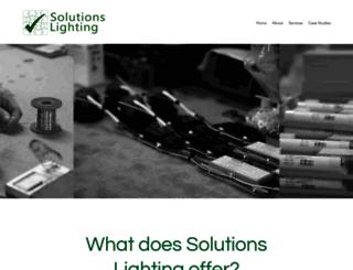 solutions-lighting.co.uk screenshot