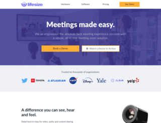 solutions.lifesize.com screenshot