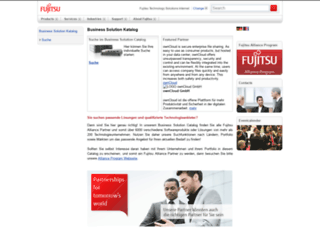 solutions.ts.fujitsu.com screenshot