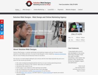 solutionwebdesigns.com screenshot