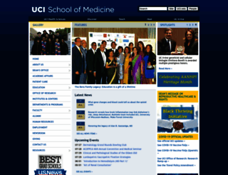som.uci.edu screenshot