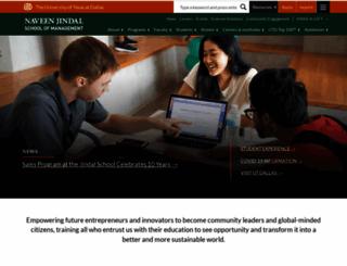 som.utdallas.edu screenshot