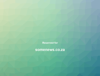 somenews.co.za screenshot