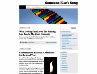 someoneelsessong.wordpress.com screenshot