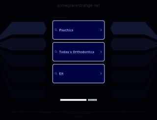 someplacestrange.net screenshot