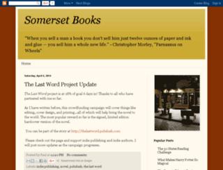 somersetbooks.blogspot.com screenshot