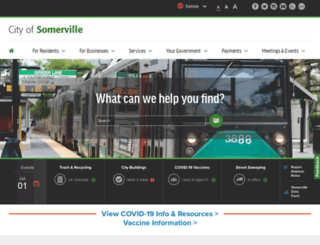 somervillema.gov screenshot
