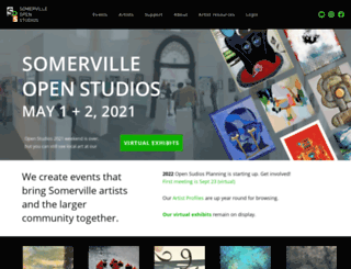 somervilleopenstudios.org screenshot