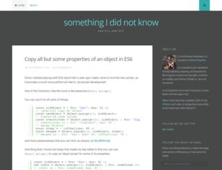 somethingididnotknow.wordpress.com screenshot