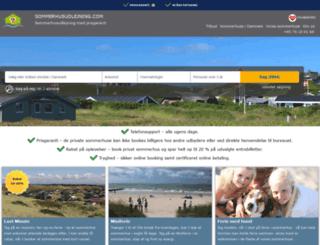 sommerhusudlejning.com screenshot