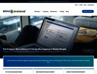 sona-systems.com screenshot
