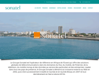 sonatel.com screenshot