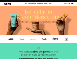sondskin.com screenshot