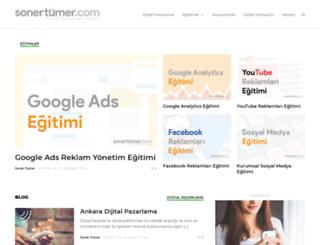 sonertumer.com screenshot