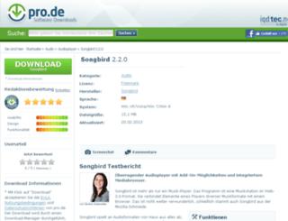 songbird.pro.de screenshot