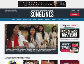 songlines.co.uk screenshot