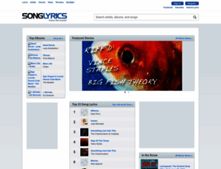 songlyrics.com screenshot