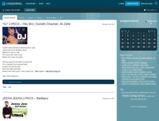 songlyricshindi.livejournal.com screenshot
