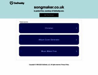 songmaker.co.uk screenshot