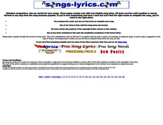 songs-lyrics.com screenshot