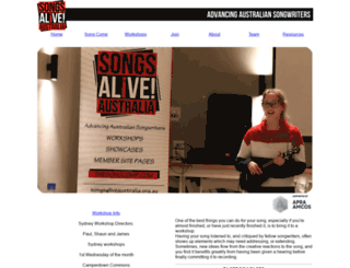 songsaliveaustralia.org.au screenshot