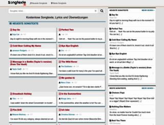 songtexte.bz screenshot