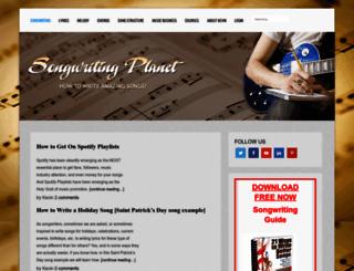 songwritingplanet.com screenshot