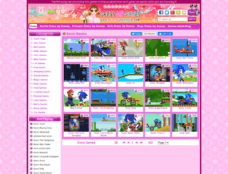 sonic-games.dressupgames8.com screenshot